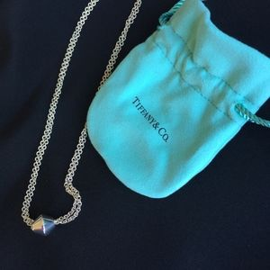 Tiffany & Co Sterling Barrel Necklace NWOT 2 Chain